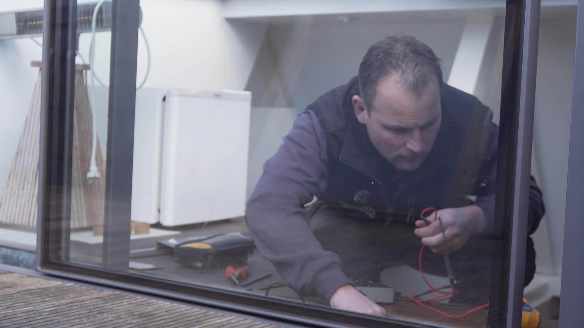 Installation av installationsteamet Glazing Vision